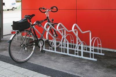 support cycles avec arceaux 4 emplacements. Black Bedroom Furniture Sets. Home Design Ideas