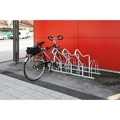 Melzer Metallbau Fahrradständer mit Anlehnbügel - 4 Einstellplätze
