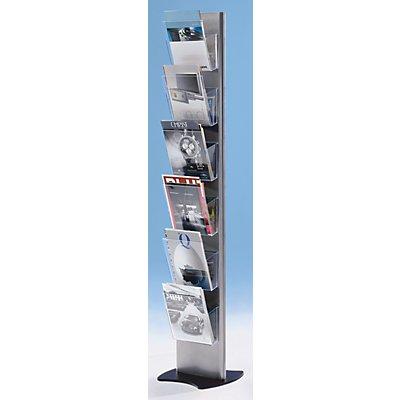 Jansen Display Prospektständer aus Kunststoff für DIN A4 - Prospekthalter einhängbar