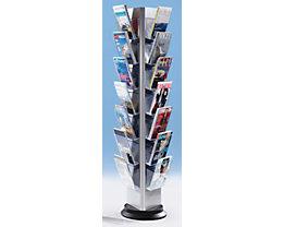 Présentoir de prospectus en plastique, format A4 - support pour prospectus à accrocher des 3 côtés, rotatif