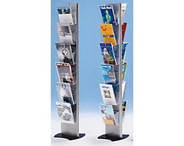 Présentoir de prospectus en plastique, format A4 - support pour prospectus à accrocher