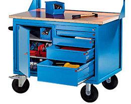 EUROKRAFT Montagewagen - 1 Schrank, 1 Schubladenschrank