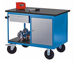 EUROKRAFT Montagewagen - 1 Schrank, 1 Schublade