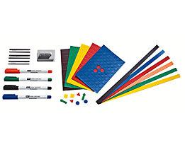 Verbrauchsmaterial-Set - für Planungstafel - verschiedene Marker, Wischer und Magnete