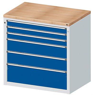 Material- und Werkzeugausgabetheke - 3 Schubladen 90 mm, 2 Schubladen 180 mm, 1 Schublade 270 mm