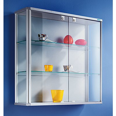 office akktiv Design-Wandvitrine - HxBxT 800 x 820 x 250 mm