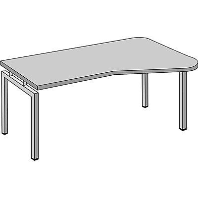 office akktiv STATUS Euro-EDV-Tisch - Vertiefung beidseitig montierbar