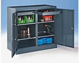 Werkzeugschrank - mit Mitteltrennwand, 2 Schubladen, 4 Fachböden