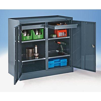 werkzeugschrank mit mitteltrennwand 2 schubladen 4 fachb den. Black Bedroom Furniture Sets. Home Design Ideas