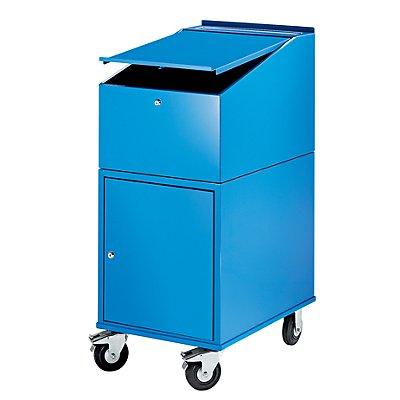 eurokraft rollpult mit schrank inkl 2 fachb den farbe lichtblau ral 5012. Black Bedroom Furniture Sets. Home Design Ideas