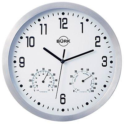 Wanduhr, Ø 250 mm - Funkuhrwerk - Zifferblatt weiß