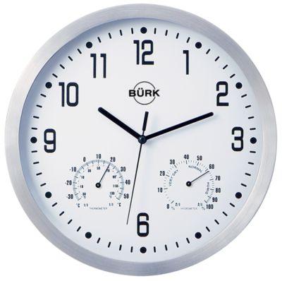 Wanduhr, Ø 250 mm - Quarzuhrwerk - Zifferblatt weiß