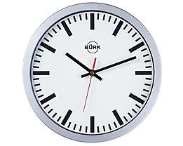 Wanduhr mit Kunststoffgehäuse, Ø 300 mm - Funkuhrwerk - Zifferblatt weiß, ab 3 Stk