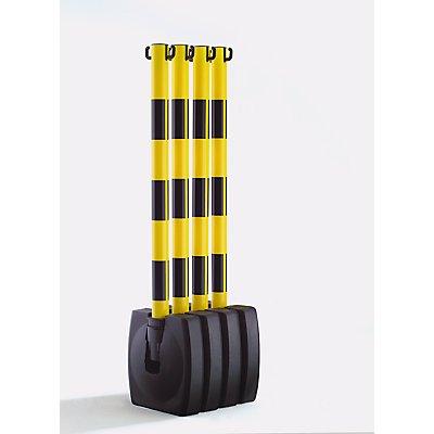MORAVIA Ketten-Warnständer-Set, klappbar - Pfostenhöhe 900 mm