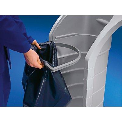Wertstoff-Sammelbehälter, Volumen ca. 120 l - große Einwurfklappe und Fronttür - inklusive Aufkleberset