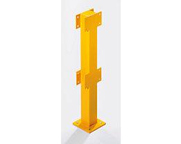 Pfosten für Sicherheitsgeländer - für den Innenbereich - Höhe 500 mm für 1 Balken, Mittelpfosten