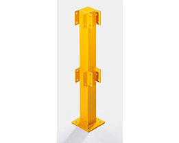 Pfosten für Sicherheitsgeländer - für den Innenbereich - Höhe 500 mm für 1 Balken, Eckpfosten