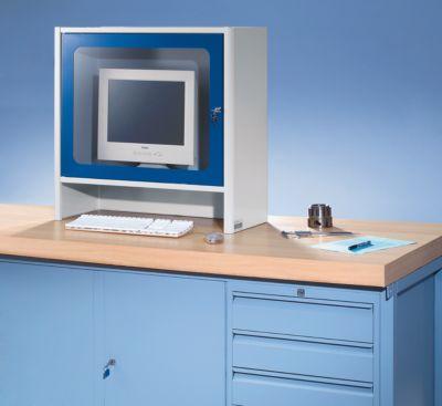 RAU Monitorgehäuse mit integriertem Aktivlüfter - HxBxT 710 x 710 x 300 mm