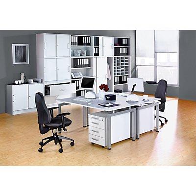 office akktiv STATUS Verkettungstisch - 90°, inklusive Stützfuß