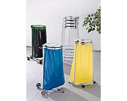 Support sacs-poubelle pour sac de 120 l - châssis roulant à 2 roues