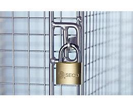 Vorhängeschloss - Breite 40 mm, Doppelverriegelung - inklusive 2 Schlüssel, VE 12 Stk