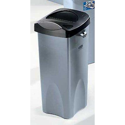 Rubbermaid Collecteur de déchets en plastique - capacité 87 l, carré - gris