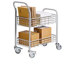 EUROKRAFT Büro- und Postwagen - Tragfähigkeit 200 kg, 2 Etagen