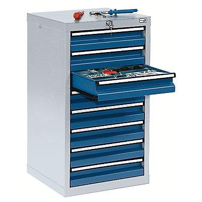Schubladenschrank - HxBxT 900 x 500 x 500 mm, 8 Schubladen 100 mm hoch