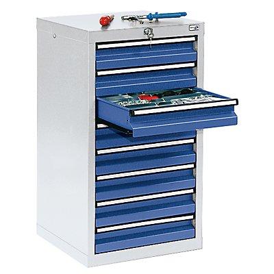 stumpf Schubladenschrank - HxBxT 900 x 500 x 500 mm, 8 Schubladen 100 mm hoch