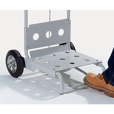 Pedal-Abfallsackhalter aus Stahl, mobil - Deckel-Ø 410 mm - für 1 x 120-l-Sack