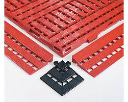 Randleiste - LxB 125 x 600 mm, VE 10 Stück - schwarz