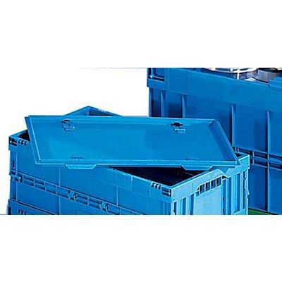Deckel, blau, zu Faltbox, ohne Arretierung für LxB 600 x 400 mm