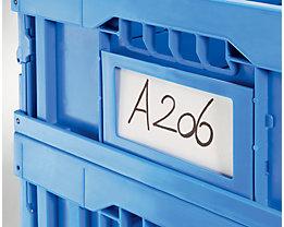 Etikettenrahmen DIN A6 - VE 20 Stk - blau