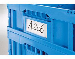 Porte-étiquettes A6 - lot de 20 - bleu
