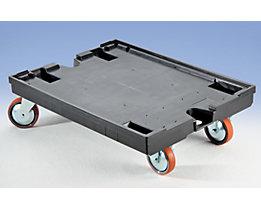 Rollwagen - mit 2 Lenk- und 2 Bockrollen - LxB 800 x 600 mm, Tragfähigkeit 450 kg