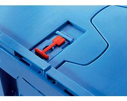 Einwegplomben für Faltbox - Verpackungseinheit 100 Stück - rot
