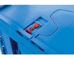 WALTHER Einwegplomben für Faltbox - Verpackungseinheit 100 Stück - rot
