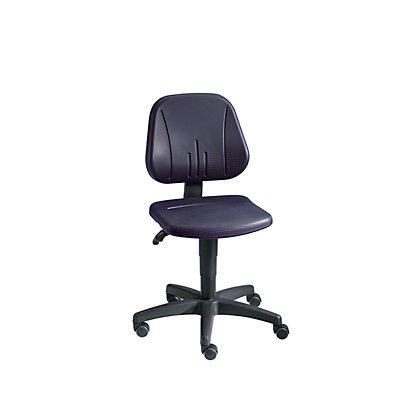 bimos Universal-Arbeitsdrehstuhl - mit Rollen - Sitzbezug PU-Schaum