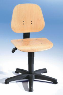 bimos Arbeitsdrehstuhl mit Gasfeder-Höhenverstellung - Buchenschichtholz