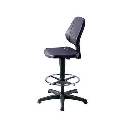 bimos Arbeitsdrehstuhl mit Gasfeder-Höhenverstellung - Integralschaum in schwarz