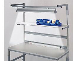 Arbeitsplatzleuchte - 2 x 54 W Leuchtstoffröhren, Länge 1200 mm - für Tischbreite 1200 mm