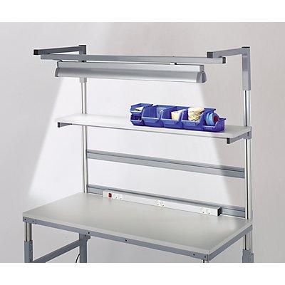 RAU Arbeitsplatzleuchte - 2 x 54 W Leuchtstoffröhren, Länge 1200 mm