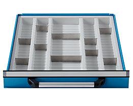 Schubladeneinteilung für Werkbank - mit 5 Mulden - für Schubladenhöhen 90 + 120 mm