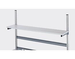 RAU Etagenbord - melaminharzbeschichtet, Tiefe 300 mm - für Tischbreite 1200 mm