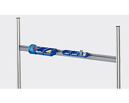 RAU Einhängeleiste - für Sichtlagerkasten - für Tischbreite 1800 mm