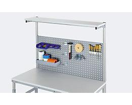 RAU Lochplatte - mit Vierkantlochung, Breite 650 mm - für Tischbreite 1200 mm