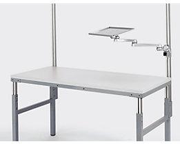 RAU Universal-Schwenkarm mit Ablage-Tablar - 4 Gelenke - Tragfähigkeit 10 kg