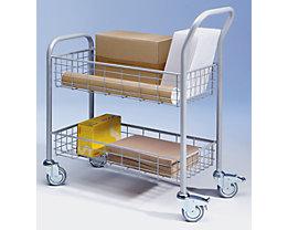 EUROKRAFT Chariot de distribution du courrier - 2 plateaux