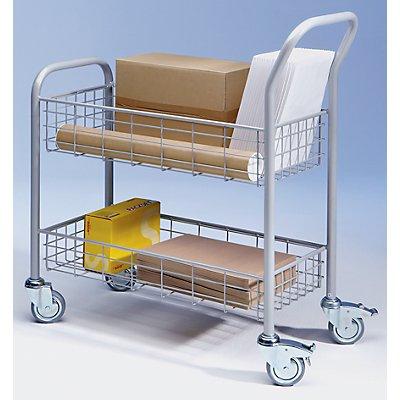EUROKRAFT Postverteilwagen - 2 Ladeflächen - Tragfähigkeit 200 kg