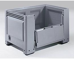 Großbehälter, Standard-Ausführung - Inhalt 535 l - Ausführung 4 Füße, 1 Seitenklappe, ab 6 Stk